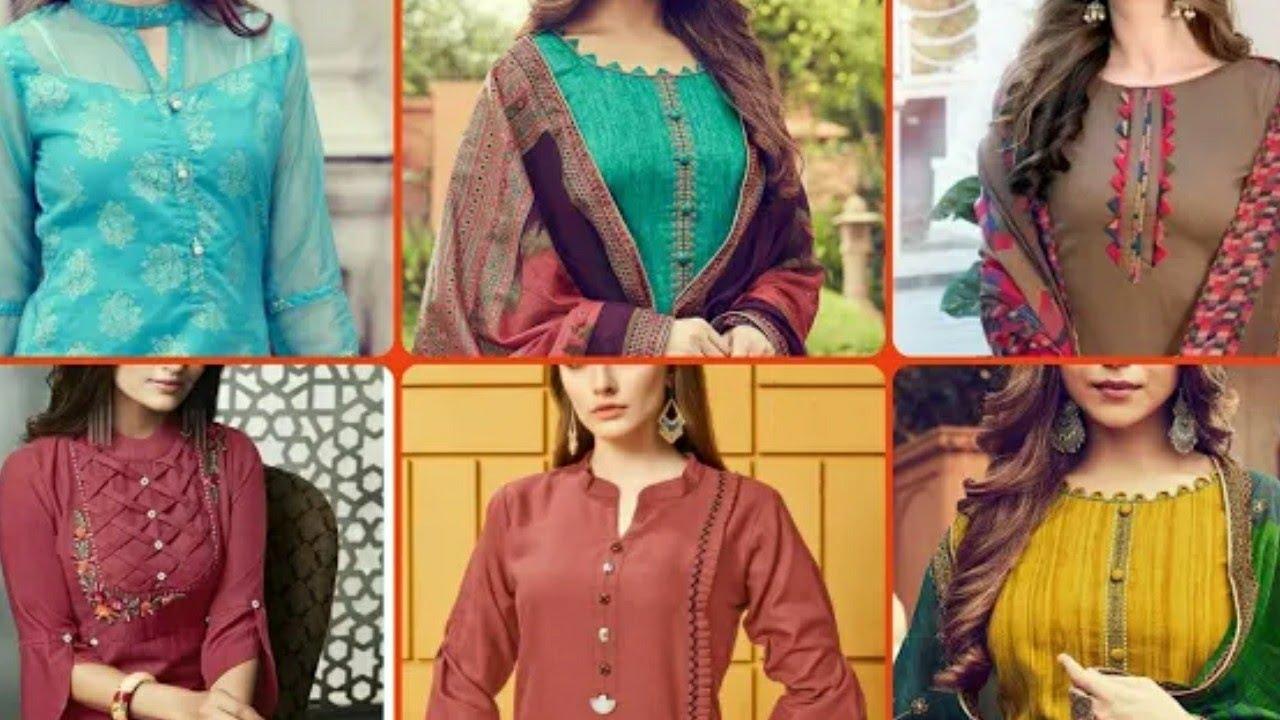 Design 2018 suit neck ladies Churidar Salwar
