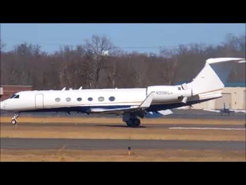 *VERY RARE* U.S Department Of Justice Gulfstream Aerospace  V Landing At Manassas Reginal Airport