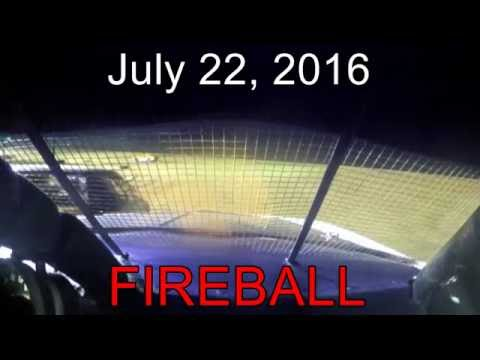 fireball at Dog Hollow Speedway Purestock 7-22-16