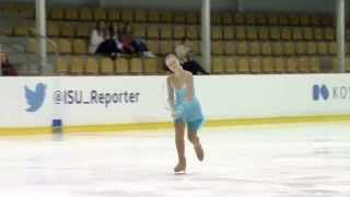 ISU  2015 Jr. Grand Prix - Riga Ladies Short Program Polina USTINOVA CYP