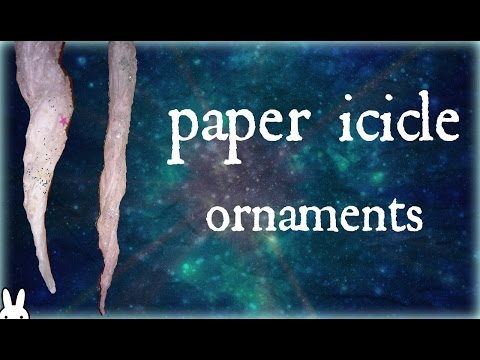 diy: how to make paper icicle ornaments with tissue paper  winter/christmas craft decor