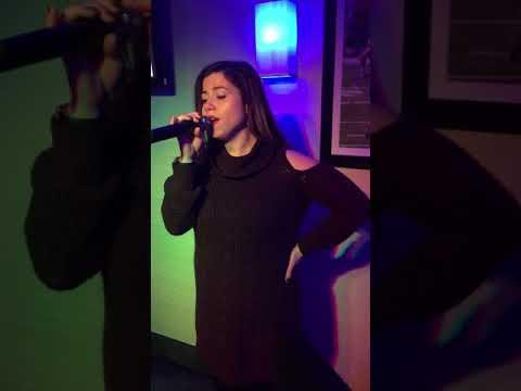 """HPE Karaoke - Karaoke Hostess, Lauren """"D"""" and Karaoke singer and good friend, Steve. Wow!!!!"""