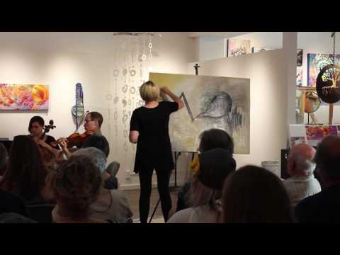 Music as Muse at Confluence Gallery with Live Painting by Cammy Davis