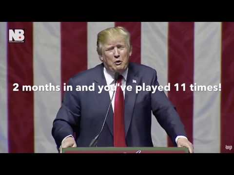 Donald Trump said he wouldn't have time to play golf as president.