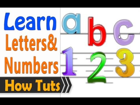 Learn to read English 1 hour - Letters and numbers