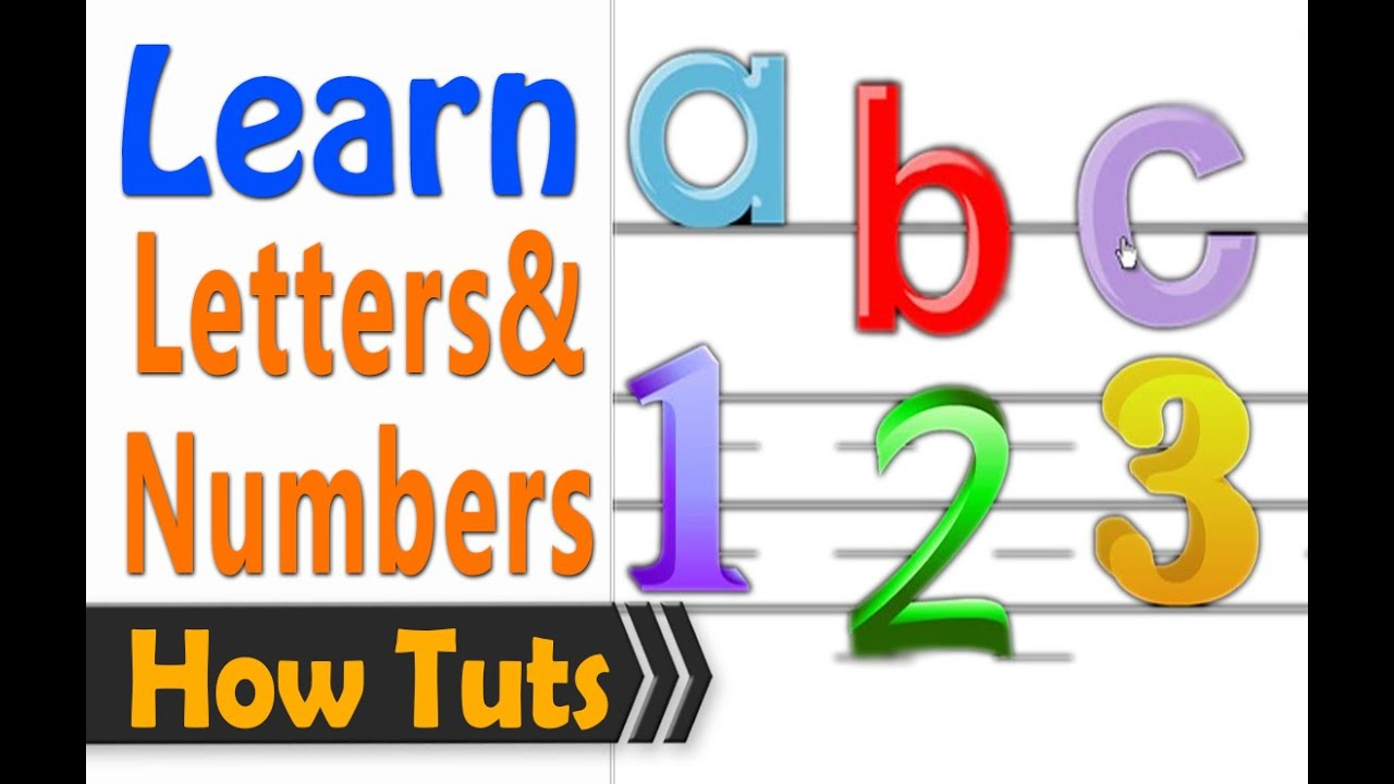 Learn to read English 1 hour - Letters and numbers - YouTube