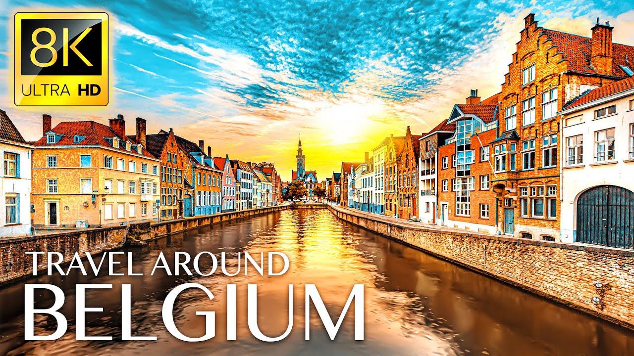 BELGIUM 8K • Beautiful Scenery, Relaxing Music & Nature Sounds in 8K ULTRA HD