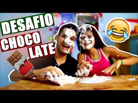 DESAFIO DO CHOCOLATE com TORTA NA CARA Ft. Minha irmã | Menino Prendado