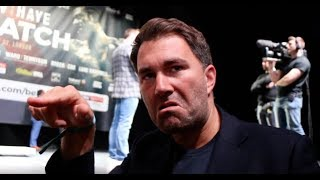 'IM A BORDERLINE PRICK' - EDDIE HEARN 'WASNT GIVING IT TO HAYE' / NO PROOF OF FUNDS FROM WILDER TEAM