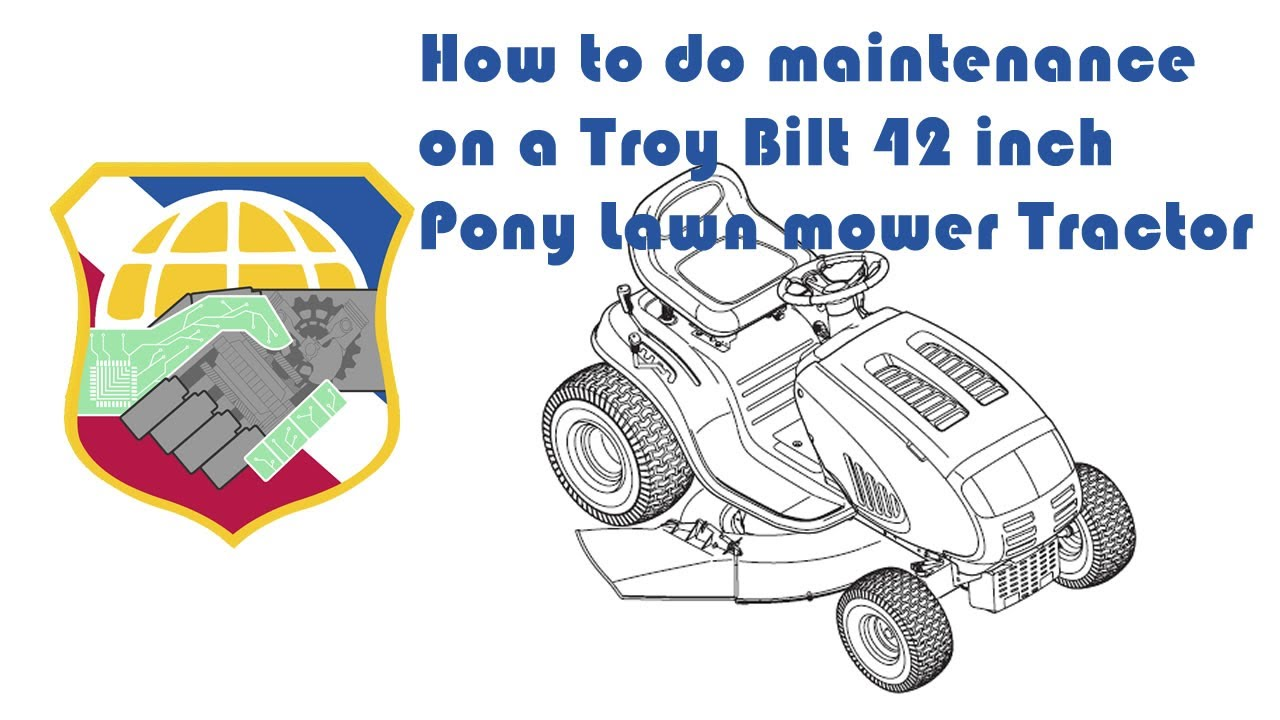 How to do maintenance on a Troy Bilt Pony Riding mower - Deck Belt Blade  removal - Lawn Tractor