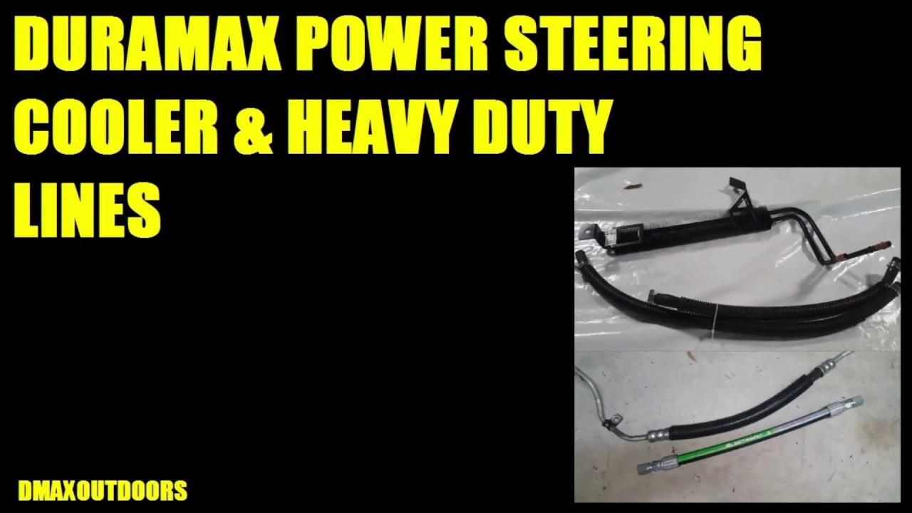 Duramax Power Steering Cooler Heavy Duty Lines Youtube Leaking High Pressure Line On My 1998 Z71 Steeringnew Pump