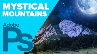 How to Create a Mystical Mountain Composition in Photoshop