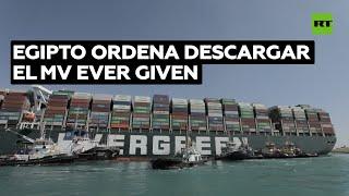 Egipto ordena descargar el buque encallado en el Canal de Suez si no se logra liberar la embarcación