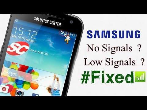How to fix Samsung Galaxy No Signals - YouTube