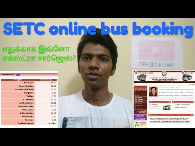 SETC-TNSTC online bus booking | Explanation of extra charges | Social talks | Naveen kumar
