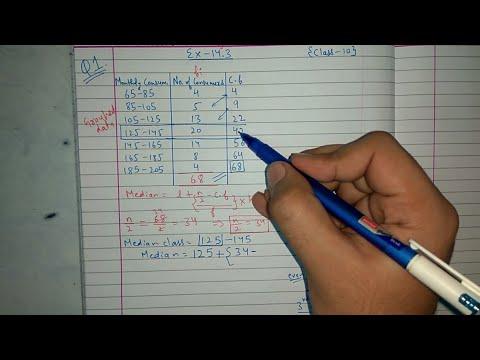 Chapter 14 Ex 14.3 (All about Median, Q1) Class 10 maths