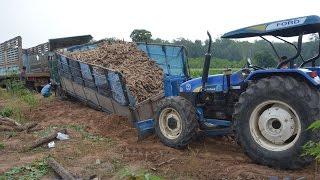 Repeat youtube video รถบรรทุกหกล้อติดหล่ม รถสิบล้อดึง รถไถดัน Stuck in the mud