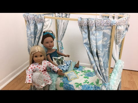 Diy Cardboard Canopy Bed  Frame For 18 Inches Dolls Part 1 # American Girl Doll # Journey Girl Dolls