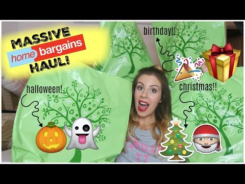 **MASSIVE HOME BARGAINS HAUL SPECIAL** - HALLOWEEN, BIRTHDAY & CHRISTMAS! | KERRY CONWAY