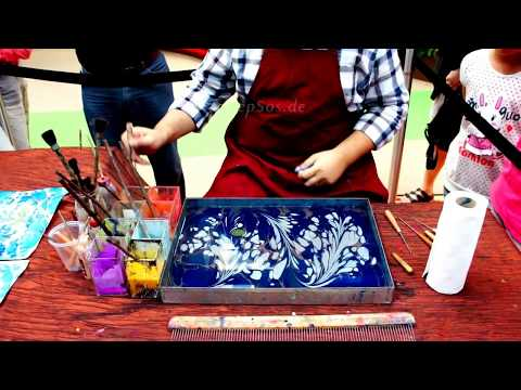 Paint on Water for Paper Marbling and Ebru Art