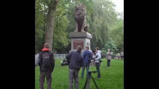 Der Idstedt Löwe in Flensburg, von der Baustelle zum Denkmal