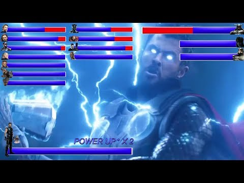 AVENGERS INFINITY WAR Final Battle ... With Healthbars | Battle in Wakanda: Wakanda Forever ? (HD)