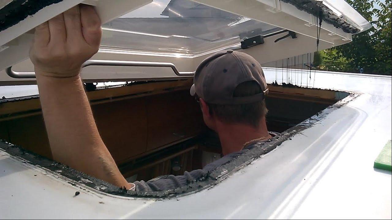 Wohnwagen Dachluke Hecki 2 montieren - YouTube