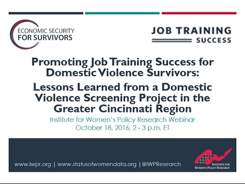 Promoting Job Training Success for Domestic Violence Survivors