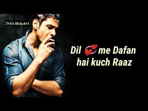 Dard Bhari Sad Heart Touching Two Line Shayari Video | Sad Poetry In Urdu/Hindi Whatsapp Status