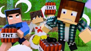 Minecraft : O MAIOR CANHAO DE TNT - ( Guerra de TNT )