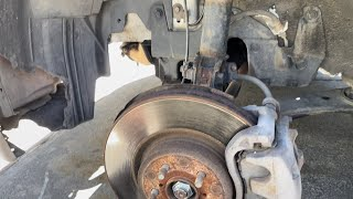 Front brake pads and rotors on 2005-09 Subaru Legacy GT