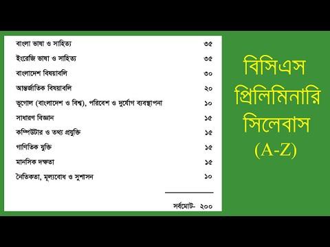41th BCS Preliminary Syllabus and Mark Distribution by Shohel Rana