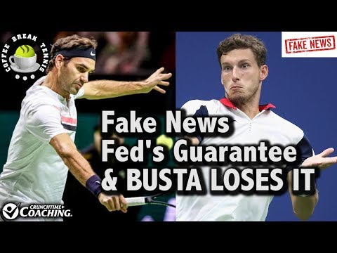 Pablo Carrena BuuuSTA goes NUTS, Federer CLOSER & FAKE NEWS EXPRESS | Coffee Break Tennis