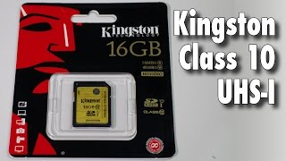 Kingston Class 10 UHS-I SDHC Gold Card Speed Test / Review
