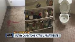 Filthy conditions at WSU apartments