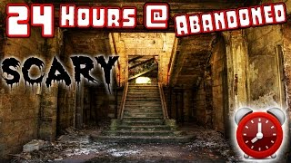 (HAUNTED) 24 HOUR OVERNIGHT CHALLENGE IN AN ABANDONED HAUNTED GHOST TOWN!