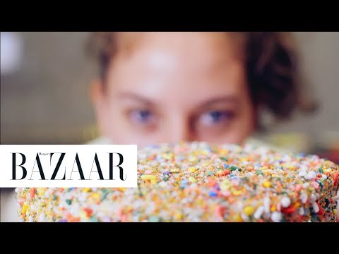 The Chicest Birthday Cake From Flour Shop NYC   Harper's BAZAAR