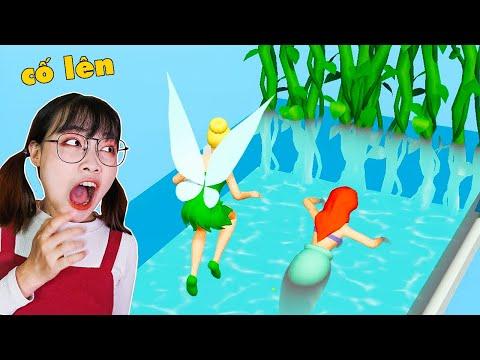 Hà Sam Điều Khiển Nàng Tiên Cá Và Các Công Chúa Chạy Về Đích Giành Vương Miệng - Princess Run 3