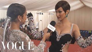 Bella Hadid on Her Jewel-Encrusted Met Gala Dress | Met Gala 2019 With Liza Koshy | Vogue