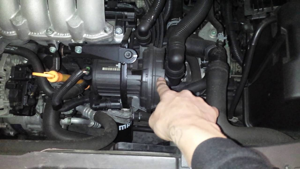 vw 2 0l air injection pump location