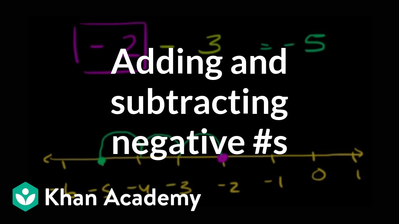 Khan Academy Adding Subtracting Negative Numbers Video Khan Academy