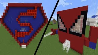 Süper Kahraman Evleri | Minecraft Modern Evler W/ Han Kanal Anka Leydi Extremert