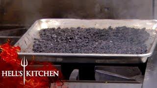 Chef Burns PECANS | Hell's Kitchen
