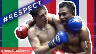 ITA vs THA : a match with Respect of the 2 fighters in the Origin of Muaythai country