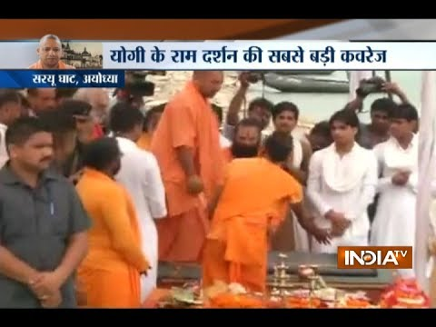 Yogi Adityanath Offers Prayers At Makeshift Ram Temple In Ayodhya