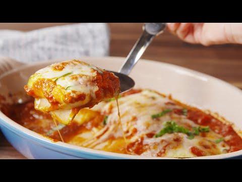 Zucchini Ravioli Without Meat.