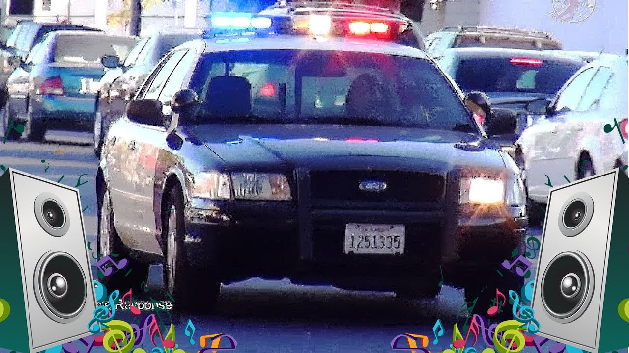 police car song kids car and truck music video youtube