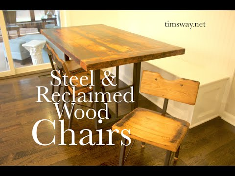 Make Reclaimed Wood Steel Chairs