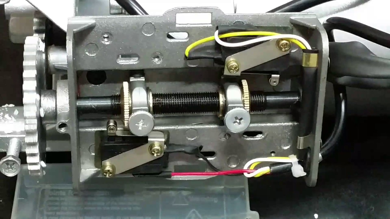 setting limit switch of rolling shutter motor