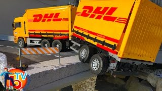 BRUDER Truck DHL 🚚RC Mercedes Benz and 🚜RC Tractors toys